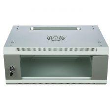 Шкаф 4U настенный со стеклянной дверью, 600*450