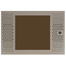 """Дверь перфорация/стекло для шкафа настенного разборн. МиК 19"""" 6U"""