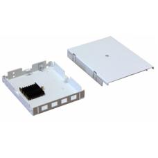 Кросс ШКО-НМк-4 SC Пустая коробка с панелью до 4х розеток в комплекте с пластиковым хомутом
