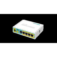 Маршрутизатор MikroTik hEX PoE lite (RB750UPr2), 5x100Mb, 4x passivePoE