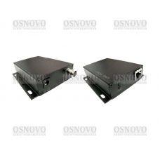 Удлинитель Ethernet с передачей питания PoE по коаксиальному кабелю OSNOVO TA-IPPoE+RA-IPPoE