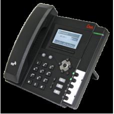 Телефонный аппарат для проводных сетей связи LV-2SB-P с БП, поддержка PoE,черный цвет