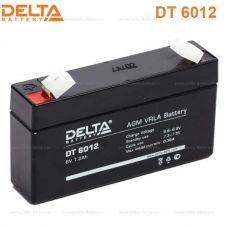 Аккумуляторная батарея Delta DT 6012 (6V/1,2Ah)