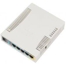Беспроводной маршрутизатор Mikrotik RB951Ui-2HnD, 5x100Mb, 1x passivePoE, 2.4GHz