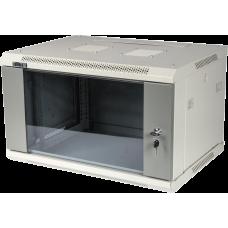 Шкаф 6U настенный со стеклянной дверью, 600*450